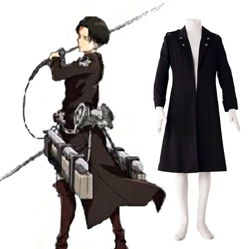 Disfraces Attack on Titan Levi Negro Cosplay España Tiendas