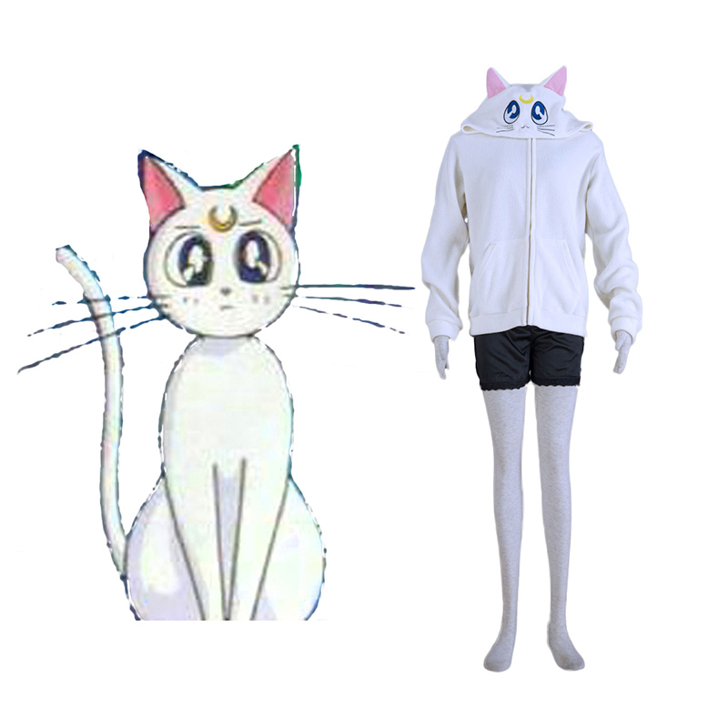 Disfraces Sailor Moon White Cat Artemis Cosplay España Tiendas