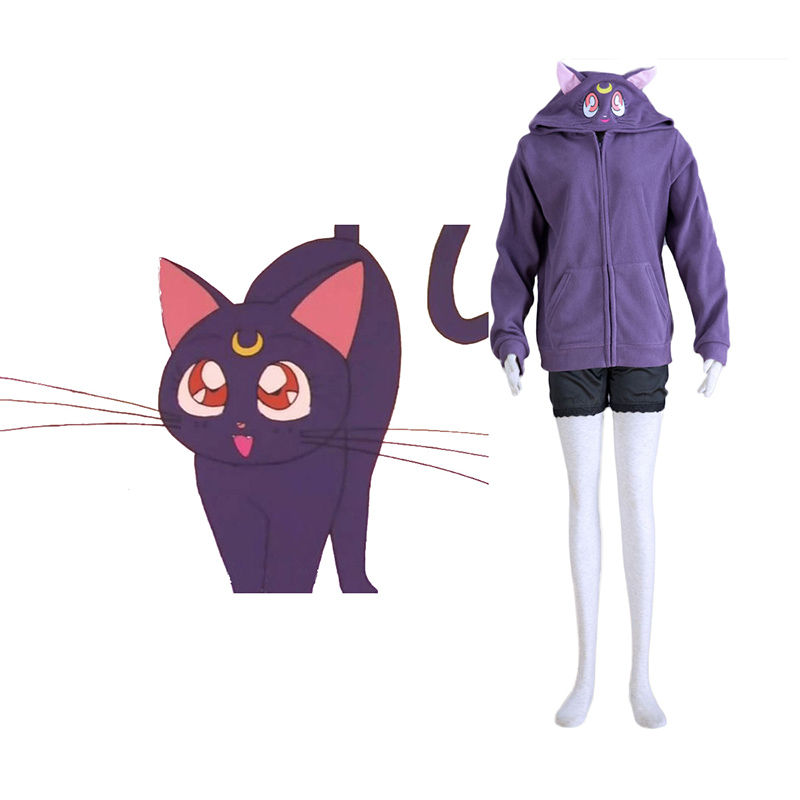 Disfraces Sailor Moon Negro Cat Luna Cosplay España Tiendas