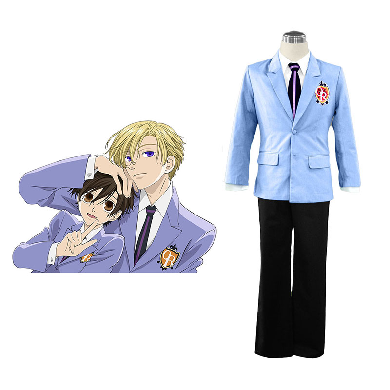 Disfraces Ouran High School Host Club Male Uniformeses Azul Cosplay España Tiendas