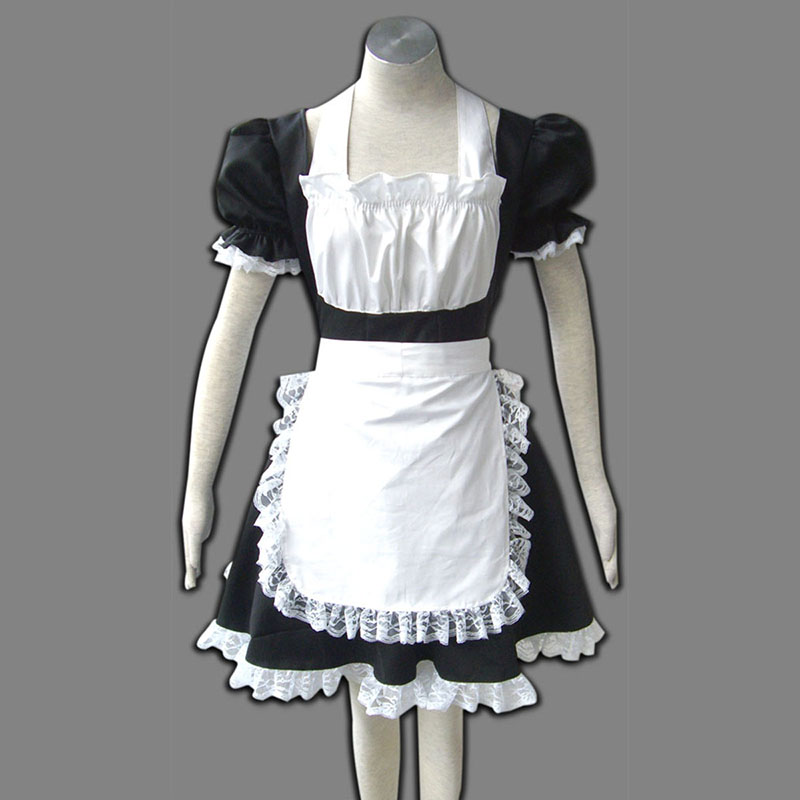 Disfraces Maid Uniformes 2 Negro Winged Angle Cosplay España Tiendas