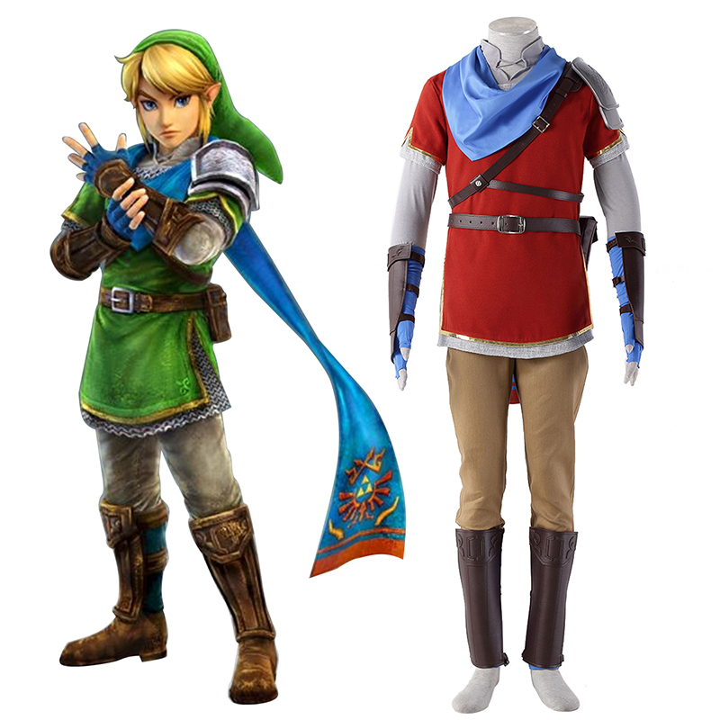 Disfraces The Legend of Zelda Hyrule-Warriors Link 6 Rojo Cosplay España Tiendas