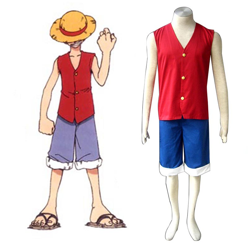 Disfraces One Piece Monkey D. Luffy 1 Rojo Cosplay España Tiendas