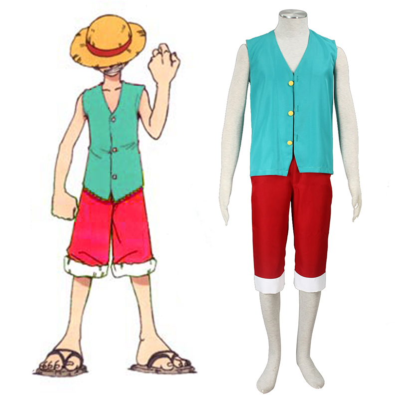 Disfraces One Piece Monkey D. Luffy 3 Green Cosplay España Tiendas
