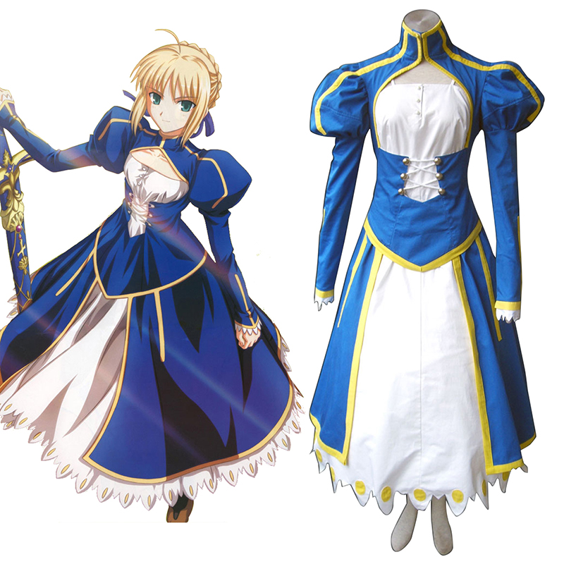 Disfraces The Holy Grail War Saber 1 Azul Cosplay España Tiendas