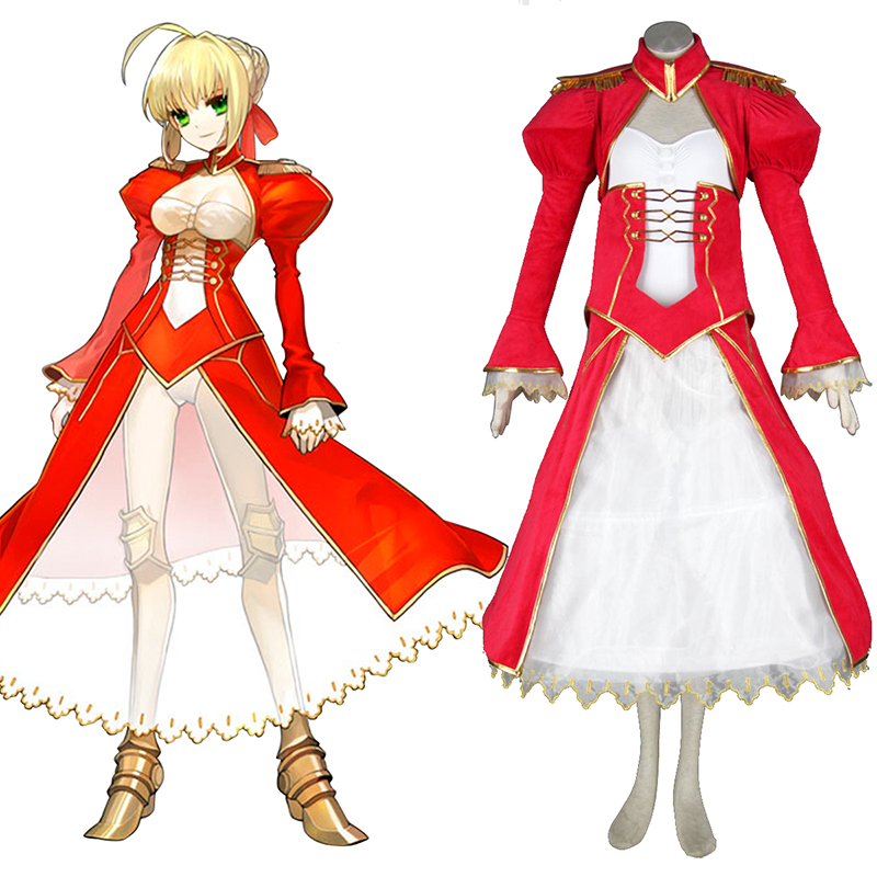 Disfraces The Holy Grail War Saber 2 Rojo Cosplay España Tiendas