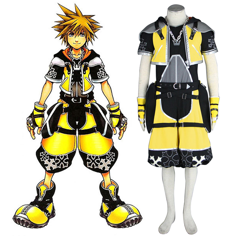 Disfraces Kingdom Hearts Sora 3 Yellow Cosplay España Tiendas