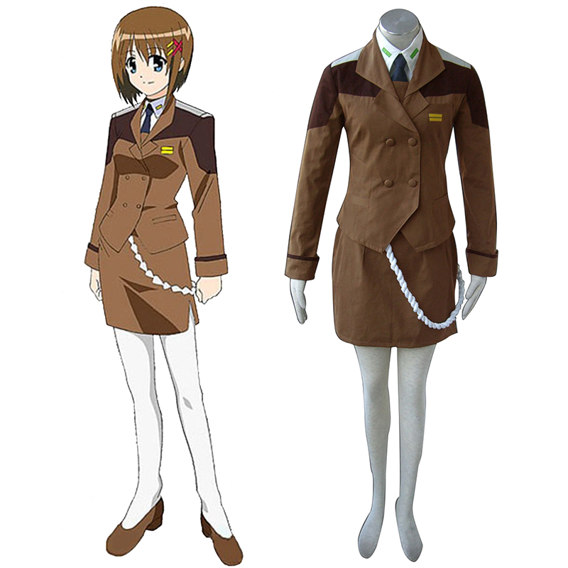 Disfraces Magical Girl Lyrical Nanoha Female Military Uniformes Cosplay España Tiendas