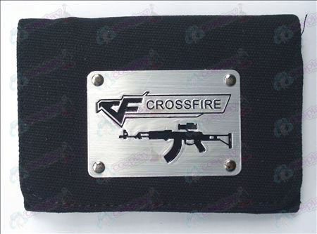 CrossFire Accesorios Blanco Canvas Wallet (Negro)