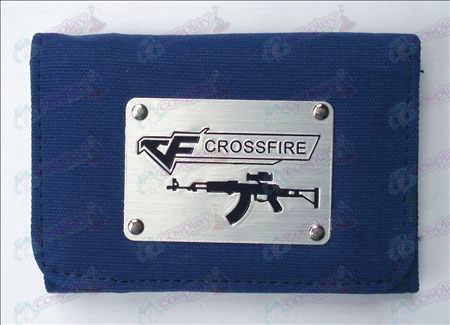 CrossFire Accesorios Blanco Canvas Wallet (azul)