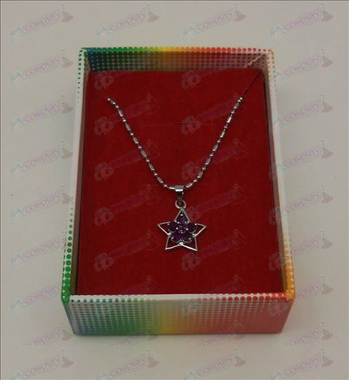Lucky Star Accesorios Diamond Necklace (púrpura)