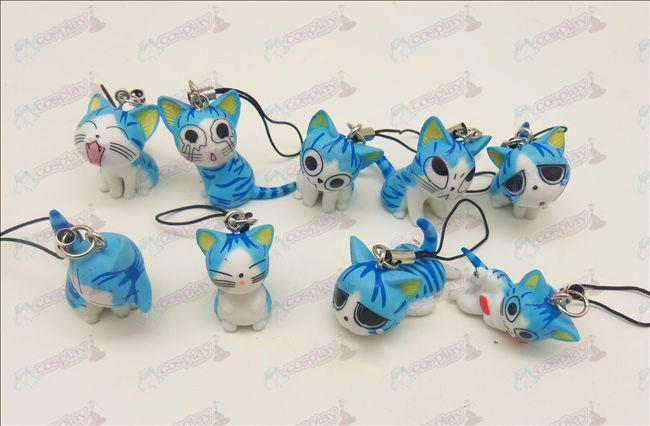 9 Sweet Cat Accesorios Toy Machine Correa (azul)