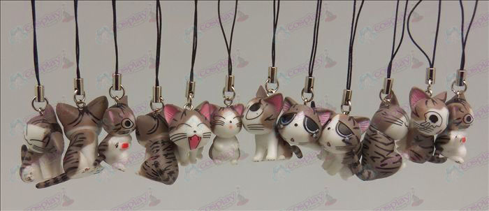 12 Sweet Cat Accesorios Toy Machine Correa (gris)