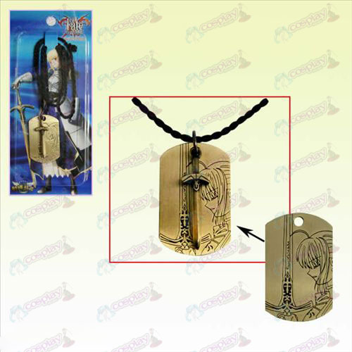 Steins; puerta Accesorios Square Tag Necklace