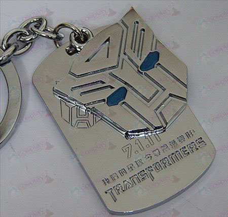 Transformers Autobots Accesorios Shuangpai Keychain - Blue Oil - Blanco