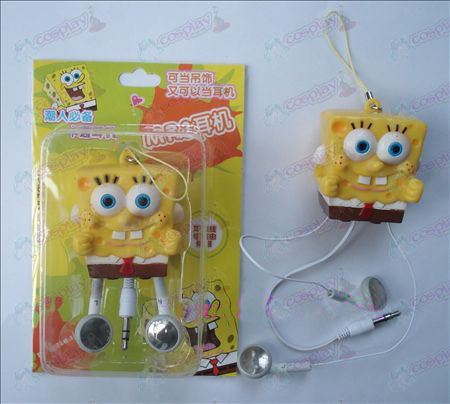 SpongeBob SquarePants Accesorios retráctil MP3 auriculares (a)