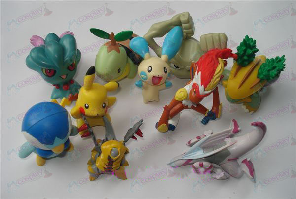 Genuino 10 Pokemon Accesorios Doll (7 a 9 cm)