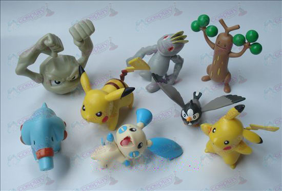 Genuine ocho Pokemon Accesorios Doll (7 a 9 cm)
