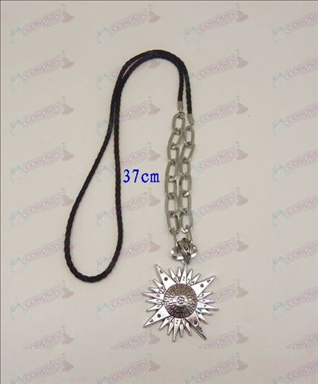DD.Gray-man Accesorios logotipo punky largo collar (plata)