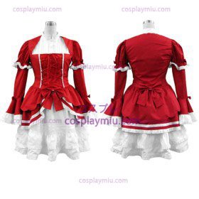 Red Lolita Trajes Cosplay