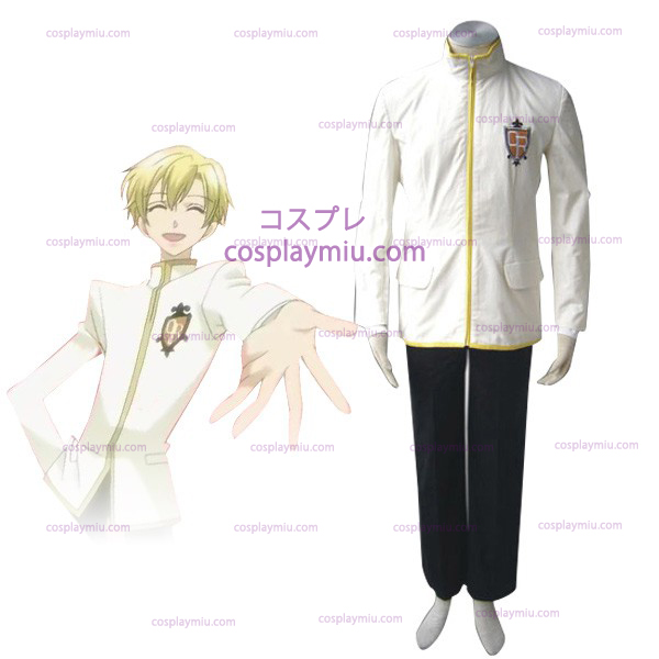 White Ouran High School Host Club Boy Uniform Trajes Cosplay