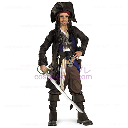 Pirates of the Caribbean - Captain Jack Sparrow Prestige Child Disfraces