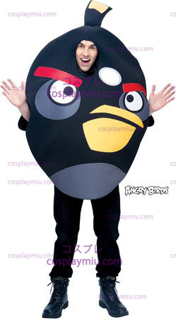 Angry Birds Negro One Size Adult