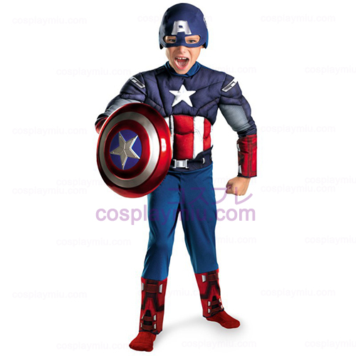 The Avengers Captain America Classic Muscle Chest Child Disfraces