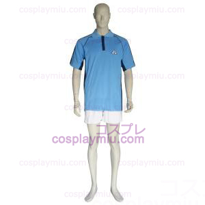 The Prince Of Tennis Jyousei Shounan Light Blue and White Trajes Cosplay