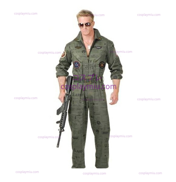 Top Gun Air Force Army Flight Suit Disfraces de Halloween