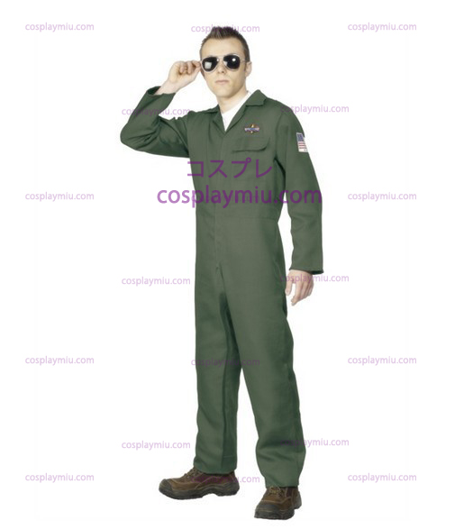 Adult Mens Aviator Topgun Pilot Fancy Vestidos Disfraces