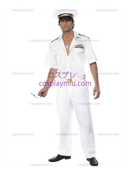 Mens Top Gun Captain Airforce Fancy Vestidos Disfraces