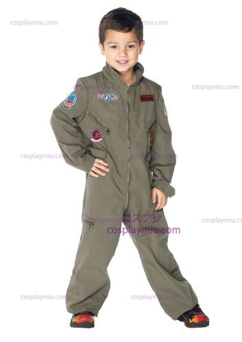 Top Gun Flight Suit Kids Disfraces