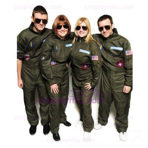 Top Gun Disfraces Party Flight Suit