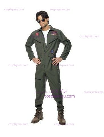 Top Gun Disfraces with Green Jumpsuit