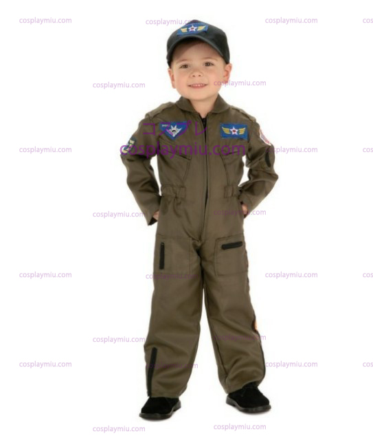 Kid Air Force Fighter Pilot Top Gun Disfraces de Halloween