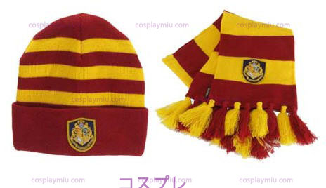 Harry Potter Hogwart's Knit Tiene And Scarf Set