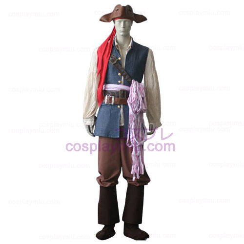 Pirates of the Caribbean Captain Jack Sparrow Trajes Cosplay