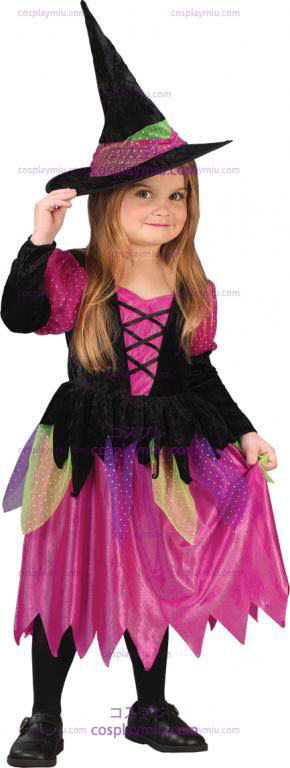 Rainbow Witch Toddler Disfraces