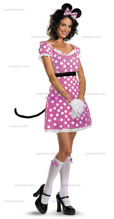 Disney Clubhouse Pink Minnie Mouse Adult Disfraces