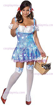 Secret Wishes Wizard Of Oz Sparkle Dorothy Adult Disfraces