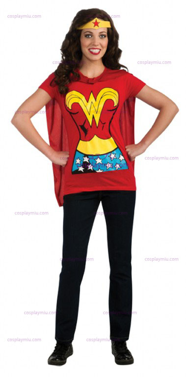 Wonder Woman Adult Shirt Disfraces