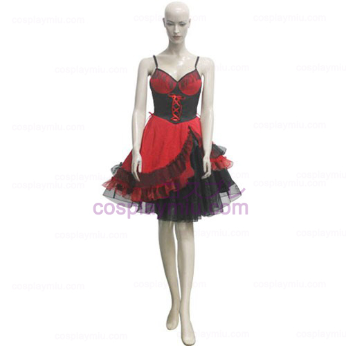 Red and Negro Gallus Girl Trajes Cosplay