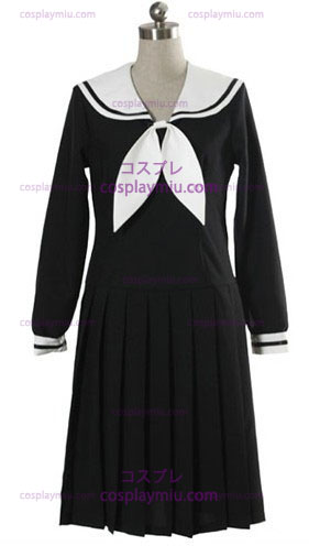 Negro Long Sleeves Vestidos School Uniform