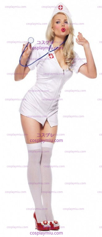 Sexy Nurse With Headpiece Adult Disfraces