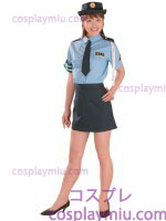 Orthodox Dama Police Disfraces of Blue Blouse and Negro Miniskirt