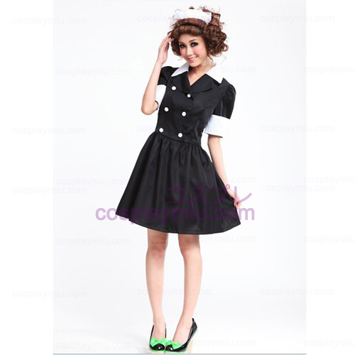 Lolita Trajes Cosplay/Negro Barbie Doll Disfraces Maid