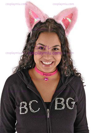 Cat Ears& Collar Set Pink