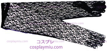 Gloves Negro Lace Elbow