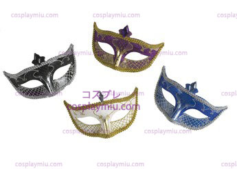 Carnival Mask No Feather Negro